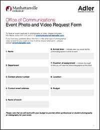 Event Photo & Video Request Form