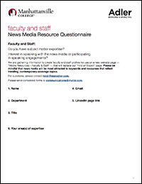 Faculty Staff News Media Resource Questionnaire
