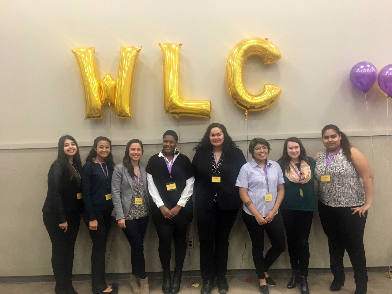 Seven Manhattanville Students and Loren McDermott attend the Women's Leadership Conference.